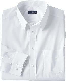KS Signature Kingsize Signature Collection Men's Big & Tall Classic Fit Broadcloth Flex Long-Sleeve Dress Shirt