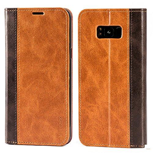 Mulbess Cover per Samsung Galaxy S8 Plus, Custodia Pelle con Funzione Stand per Samsung Galaxy S8 Plus / S8+ [Book Case], Marrone