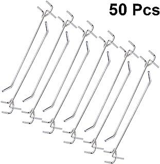 Ganchos para tablero de clavijas de 100 mm y clavijas de 150 mm surtido de 30 unidades