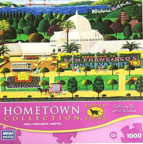 HOMETOWN COLLECTION Featuring the art of Heronim San Francisco Conservatory 1000 Piece Puzzle by HOMETOWN COLLECTION