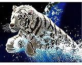 dxycfa DIY 5D Diamant MalereiTier Tiger Diamant Mosaik Wand Kunst Hand Strass selbst gemachtes...