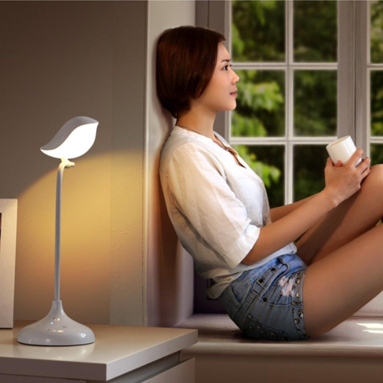 Wanson Tischlampe Schlafzimmer Wohnzimmer Schreibtisch Lampe Moderne Blautooth Tischlampe LED Schlafsaal Lampe Durchmesser 12Cm Wei Schreibtisch Lampe Mit USB-Ladeanschluss