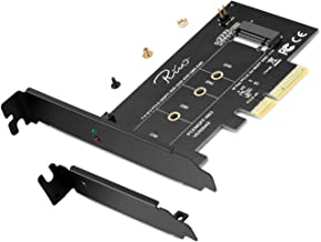 Rivo PCI-E Riser PCIe M.2 PCIe SSD to PCIe Express 3.0 x 4 Adapter Card - Supports M2 NGFF PCI-e 3.0, 2.0 or 1.0, NVMe or AHCI, M-Key, 2280, 2260, 2242, 2230 Solid State Drive, 2018 Edition
