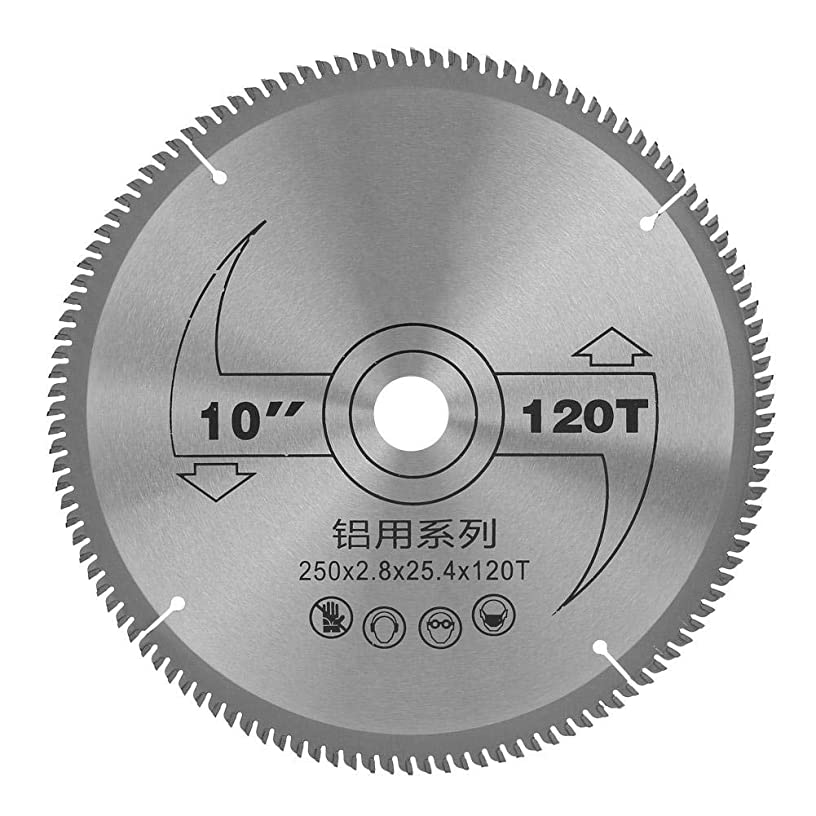 10Inch 120 Tooth Cemented Carbide Circular Cutting Saw Fine Finishing Wood Cutter Tool 250mm