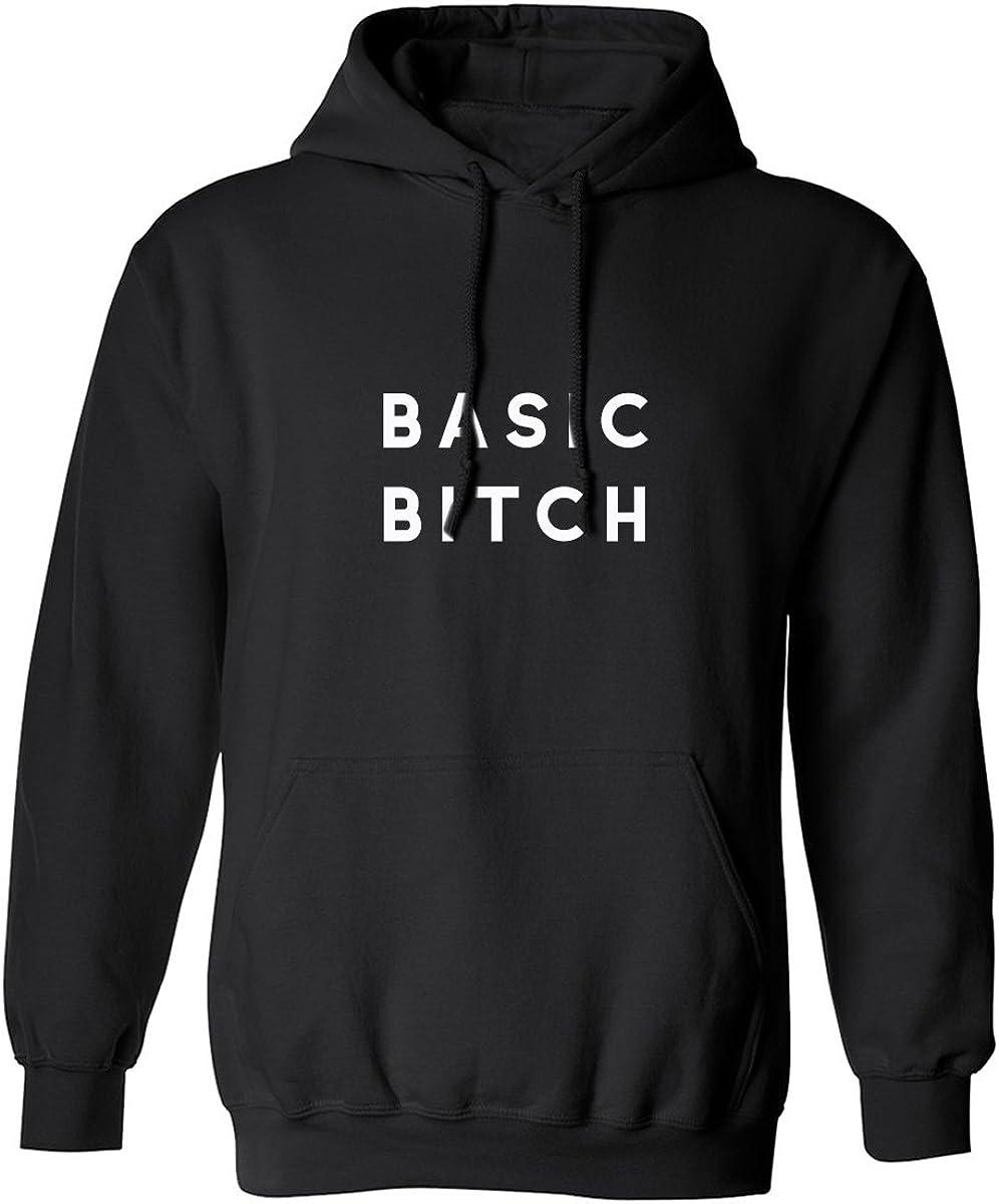 BASIC BITCH (white) Adult Hooded Sweatshirt