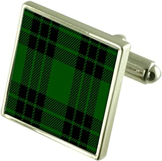 Select Gifts Tartan Clan Graham Sterling Silver Cufflinks Engraved Box