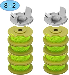 11Feet 0.080inch String Trimmer Replacement Spool Line Compatible for Ryobi O NE Plus AC80RL3 18v 24v 40v Cordless Trimmers,Weed Eater String Autofeed Replacement Spools Line Parts