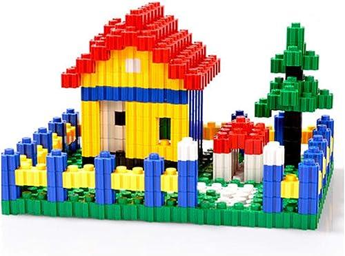 Nwn Variété de Gros Blocs de Particules 3-6 Ans pièces en Plastique épais assemblée Assemblage Construction Puzzle Jouets pour Enfants