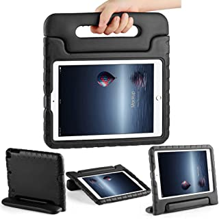 CAM-ULATA Case for iPad 9.7 inch 6th 5th Generation 2018/2017 Shockproof Kids Proof for iPad Air 1 iPad Air 2 Case Cute with Stand Handle for Kids Girls Boys Black