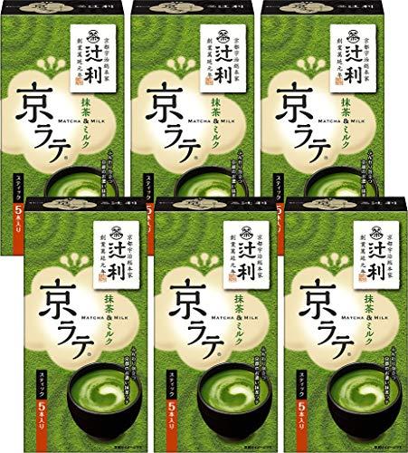 片岡物産 辻利 京ラテ 抹茶&ミルク 14g×5 まとめ買い(×6)
