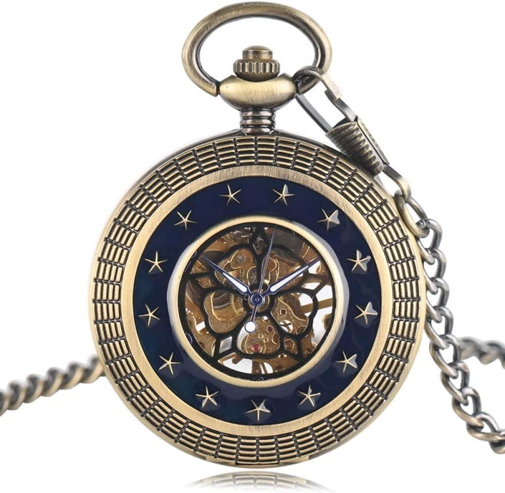 XJJZS Pocket Watch Tulsa Mall Personalized Pattern Retro Ranking integrated 1st place Vintage Steampunk