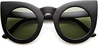 70s Womens Large Oversized Retro Vintage Cat Eye Sunglasses For Women with Round Lens 48mm