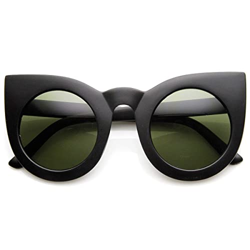9ab2ab206e zeroUV - 70s Womens Large Oversized Retro Vintage Cat Eye Sunglasses For  Women with Round Lens