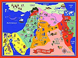 Bible Story Map Poster for Kids