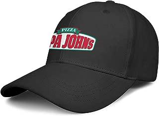 Unisex Polo Style Baseball Cap Papa-John's-Pizza-Logo- Athletic Six Panel All Cotton Adult Cap