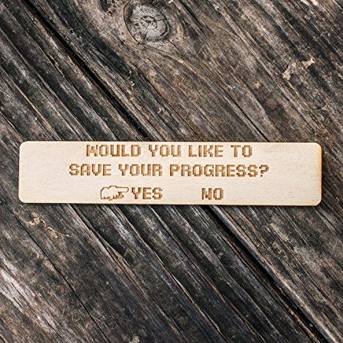 Customizable - Would You Like to Save Your Progress - Bookmark
