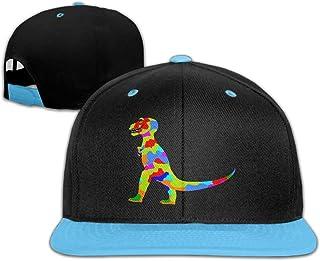 bc43efff007 Qiop Nee Kid s Hip Hop Baseball Cap and Hat Boys  Girls Rainbow Prehistoric  Dinosaur