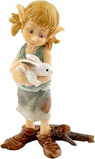 Top Collection Miniature Fairy Garden and Terrarium Pixie Hugging Bunny Figurine