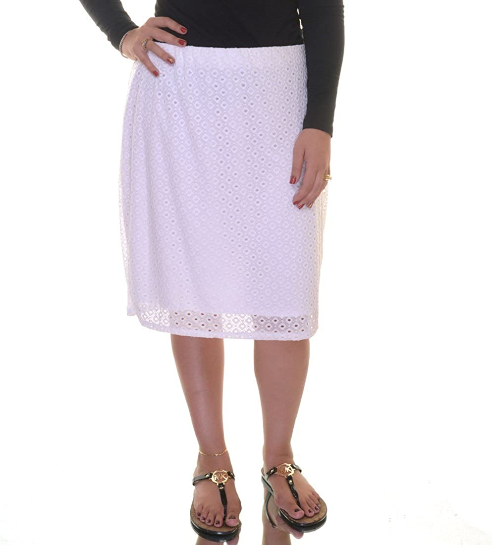 Alfani Women's Eyelet Lace Overlay Pencil Skirt