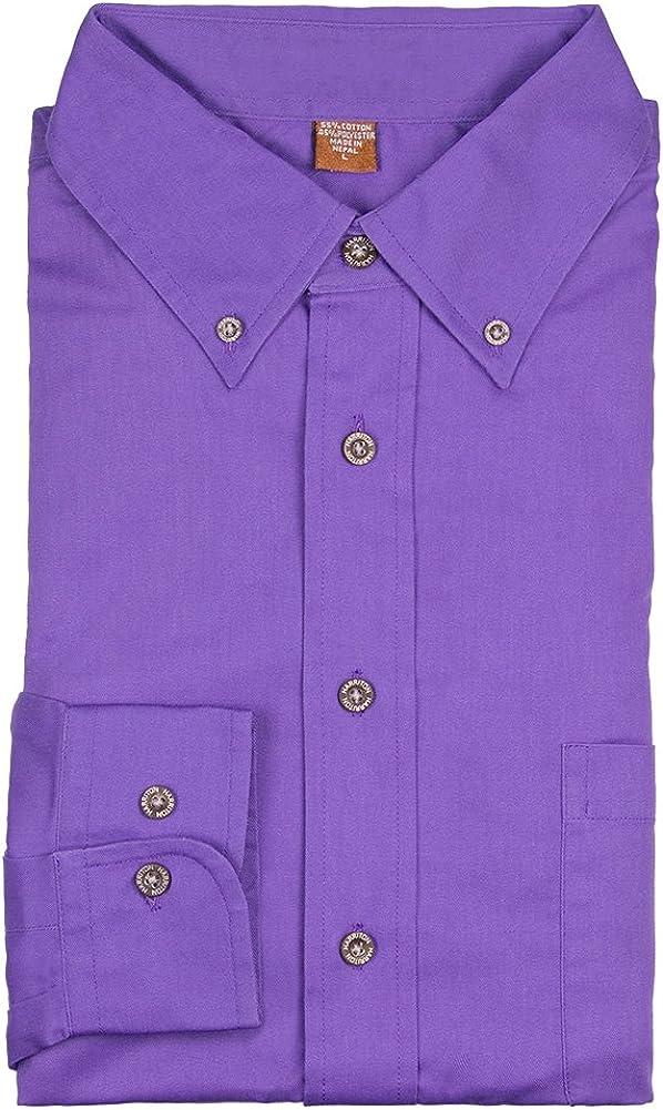 Dress Shirt, Button Down Mid-Tone Purple