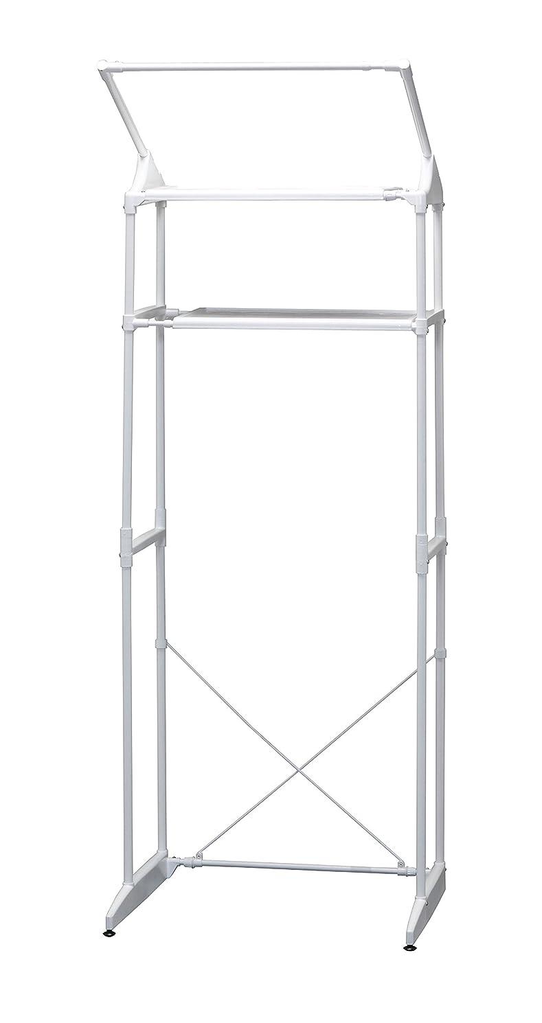 葉っぱ方向職人アイリスオーヤマ ランドリーラック ハンガーバー付 幅66.5~95cm×奥行54.5×高さ182㎝ HLR-181P