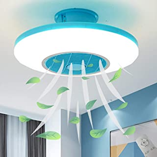 EFGS Invisible Luz De Ventilador con Control Remoto La Luz del Ventilador del Techo del, Ajuste De Luz De Tres Colores, Φ50cm,Blue