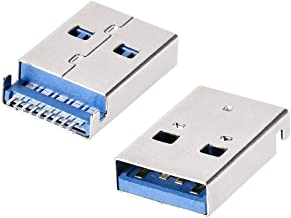 uxcell 20PCS USB 3.0 Type A Male Socket Connector, 9-Pin 180 Degree SMT, Repair Adapter