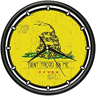 Dont Tread ON ME Wall Clock Libertarian Flag Patriot American Colony Flag Gift