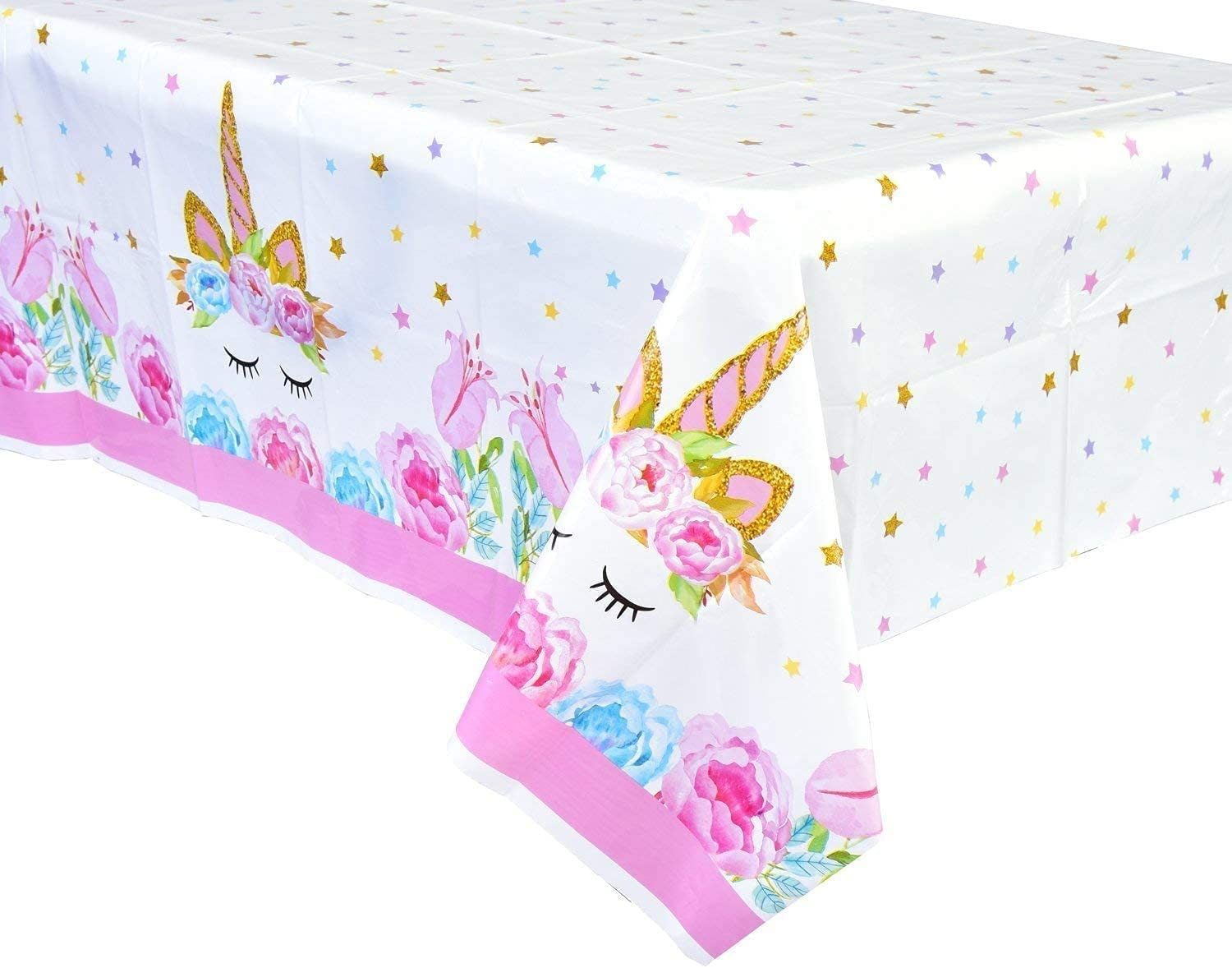 3 SEAL limited product Packs Unicorn Philadelphia Mall Tablecloth Part Birthday for