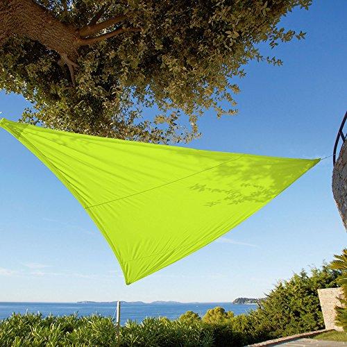 Voile / Toile d'ombrage / Taud de soleil Vert Anis 5 x 5 Mètre