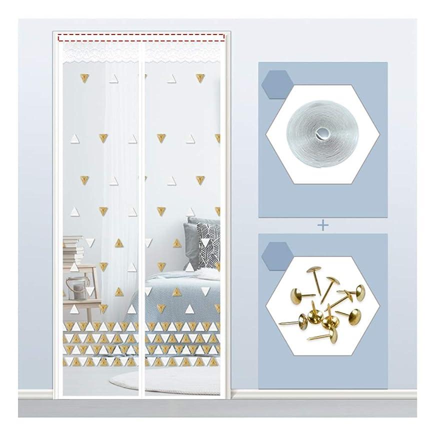 ネーピア洗う追い付く網戸 夏の刺繍網戸、ミュート暗号化パンチングフライと防風カーテンなし、簡単な設置、寝室のキッチンと廊下用 (Color : A, Size : 85 x 200cm)