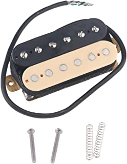 Musiclily 52mm Humbucker Pickup Electric Guitar Bridge Pickups for Fender Stratocaster Les Paul Style Guitar Replacement, Zebra