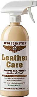 Leather Care, Conditioner, UV Protectant, Aircraft Grade Leather Care, Better Than Automotive Products. Excellent for Furniture, Car Seats, RV 's, Does not Leave Dirt attracting Residue. 16oz