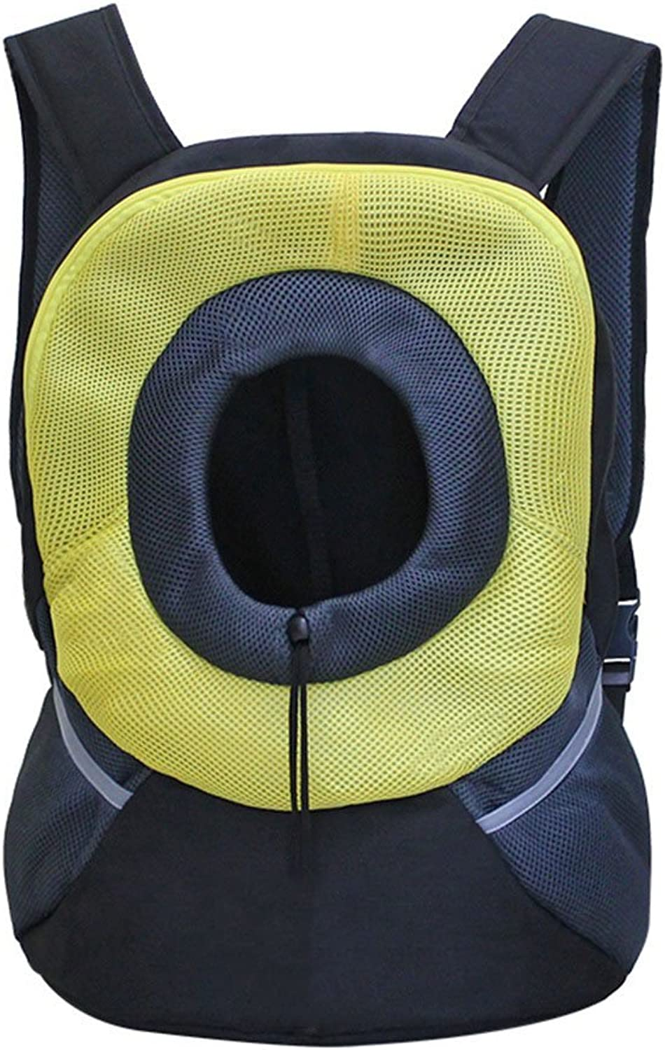 Head Out Design Pet Space Bag Fashion Portable Cat Bag Dog Bag Out Backpack Pet Bag Yellow Two Sizes (Size   S)