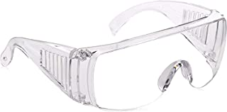 Dervin Safety Protective Goggles Wind Proof Sunglasses for Lab Work, Light weight Medical Glasses (Transparent/Clear)