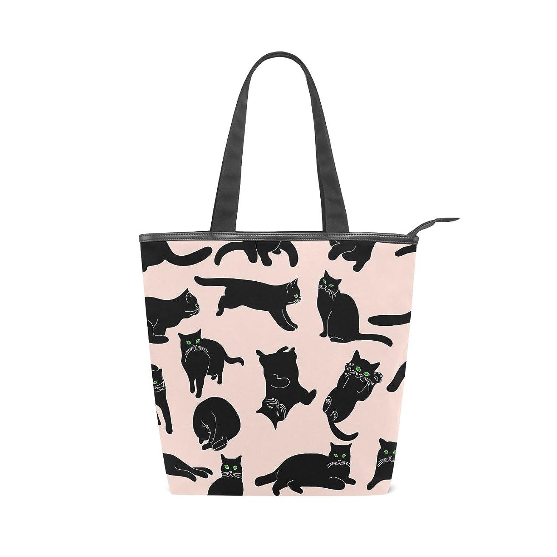 魅力的であることへのアピールデザイナー絶滅させるキャンバス バッグ トートバッグ 多機能 多用途2way猫 ショルダー バッグ ハンドバッグ レディース 人気 可愛い 帆布 カジュアル 多機能 両用トートバッグ ァスナー付き ポケット付 Natax