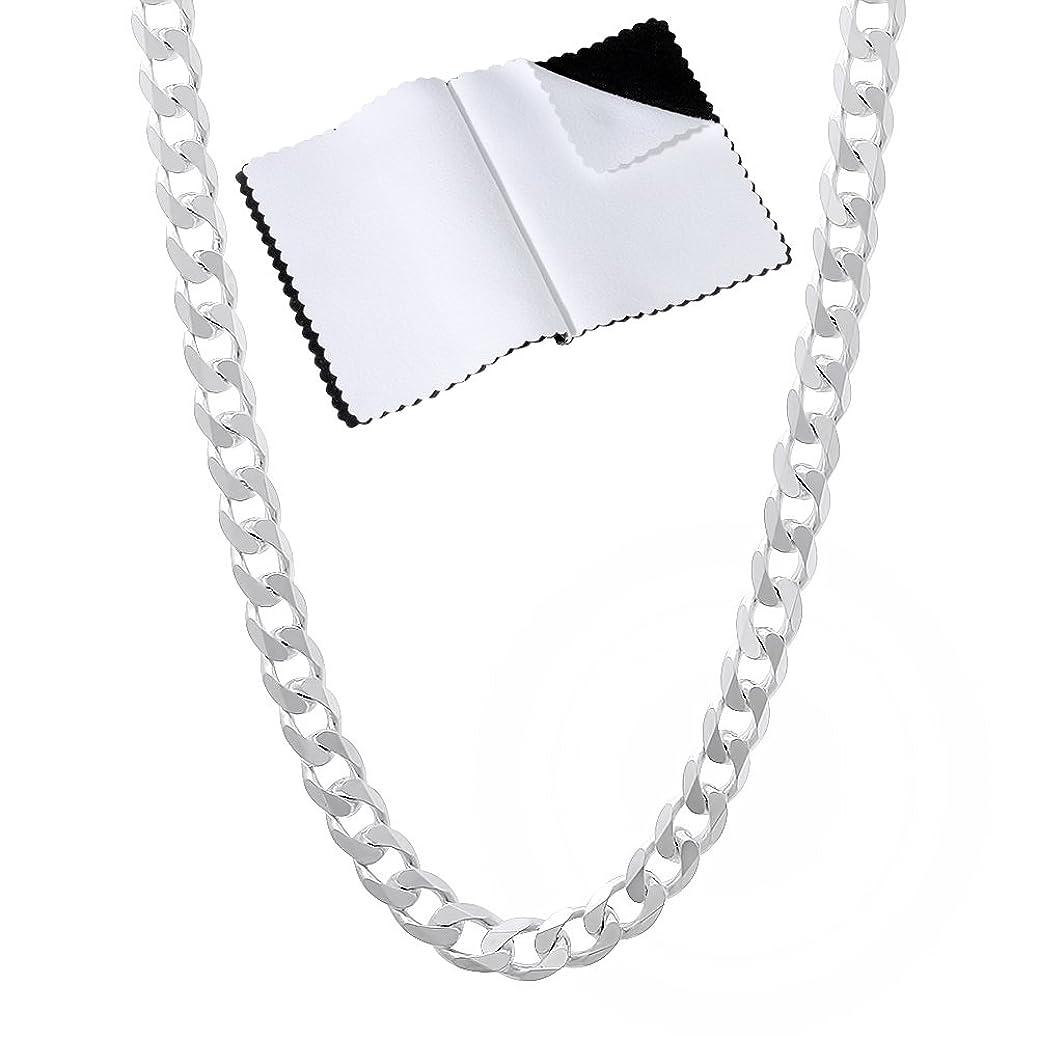 3.5mm 925 Sterling Silver Nickel-Free Beveled Cuban Curb Link Italian Chain + Bonus Polishing Cloth pcaw2795592622