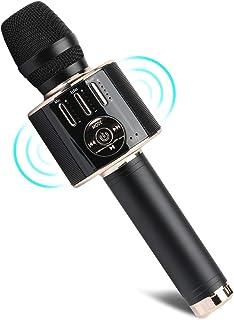 Wireless Karaoke Microphone,Tobeape Bluetooth Speaker with Magic Voice and Live Sound ,Handhold Karaoke Mic, Singing Voice...