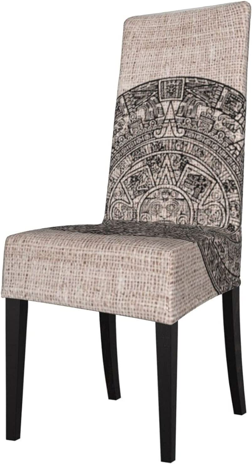 QUAVZI 2PCS Stretch Chair OFFicial Covers for Room Aztec Sun Mayan Cheap Dining