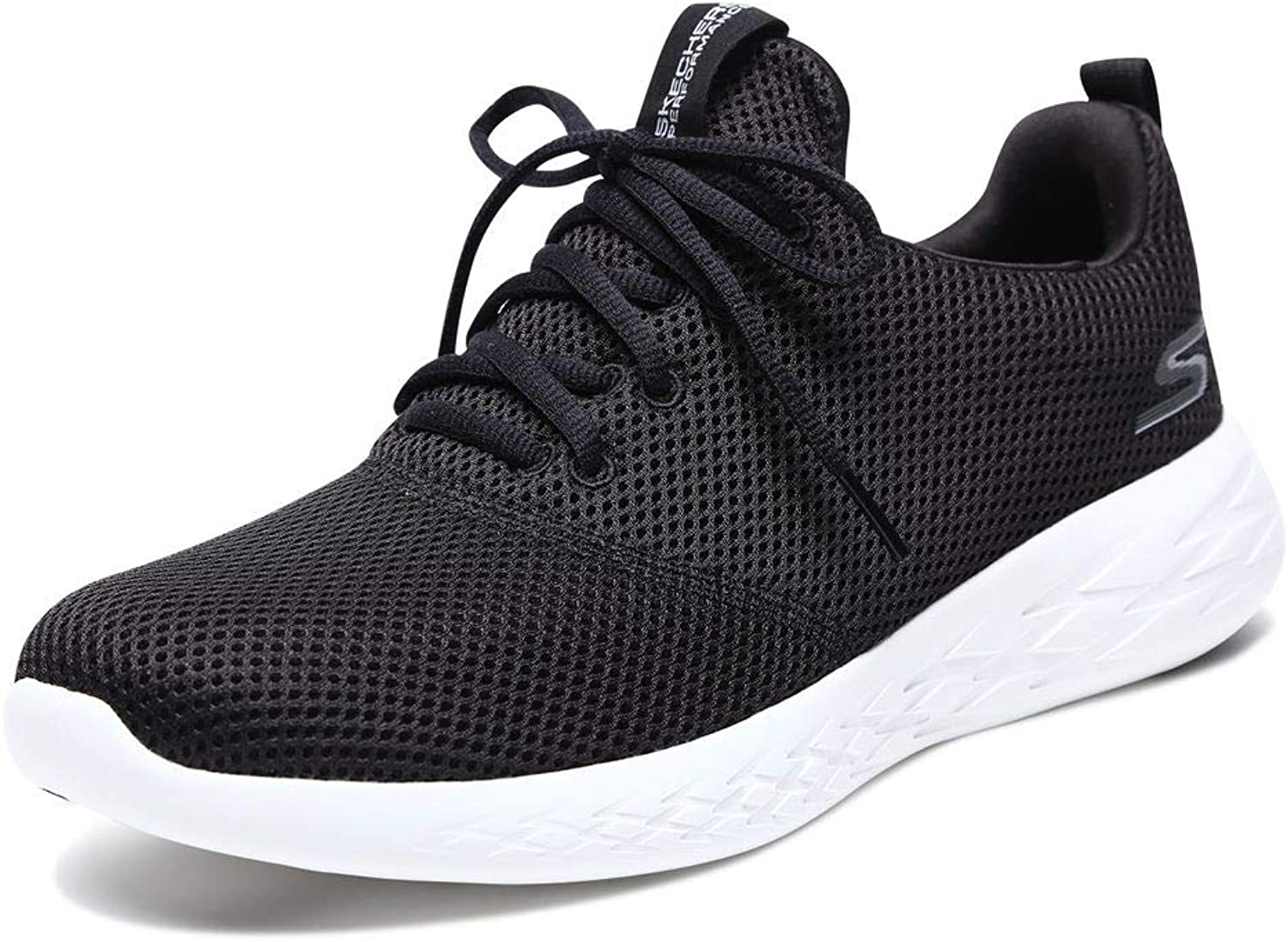 Skechers Men's Men's Men's Go Run 600 55076 Sneaker, Black/White, 9.5 M US B0792L7T54  cb8c1b