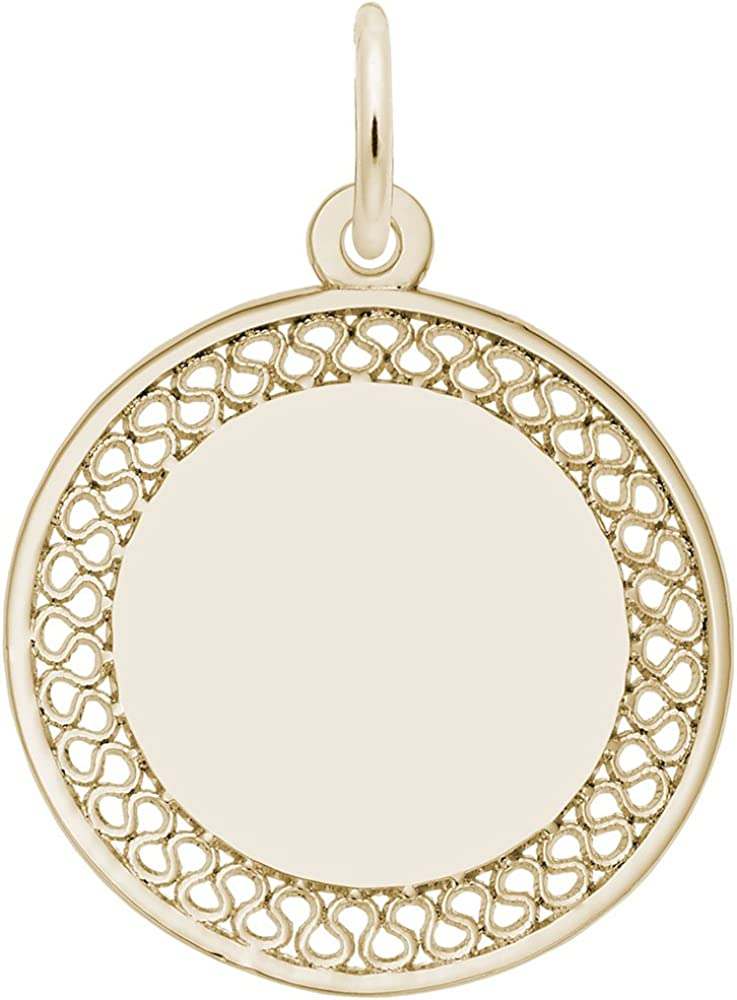 Sale price Max 64% OFF Rembrandt Charms Filigree Disc Small Pendant Charm Available in