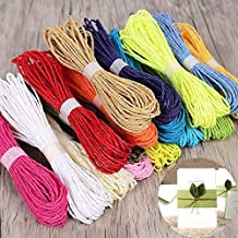 KRAFTMASTERS Pack of 1 Jute Rope for Craft Work 12 Colour