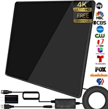 TV Antenna-Upgraded Indoor Amplified HD Antenna Up to 200+ Miles Range Support 4K 1080P & All TV's Digital Antenna with Si...