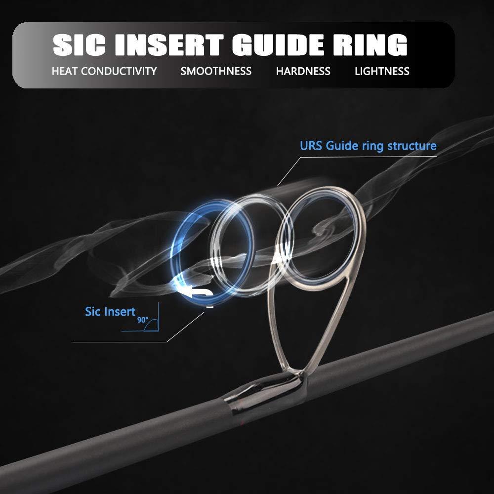 Cadencia CC6 Spinning Combo: estructura de aluminio, 7 + 1 ...