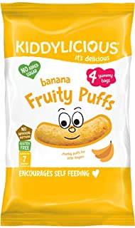 Kiddylicious Multipack Banana Puffs, Pack of 3, 12-Counts