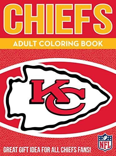 NFL Kansas City Chiefs Adult Coloring Booknfl Adult Coloring Book Red Yellow 96 Coloring Pages product image