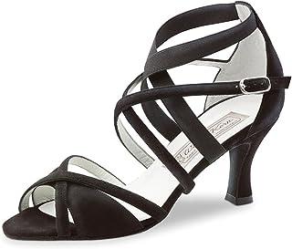 Werner Kern Mujeres Zapatos de Baile Elsa - Ante Negro - 6,5 cm