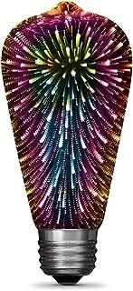 Feit Electric ST19/PRISM/LED Infinity 3D Fireworks Effect ST19 LED Light Bulb, 5.4