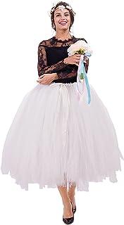 تنورة Kephy مصنوعة يدويًا للكبار من قماش التول توتو للنساء مقاس 80.5 سم من تنانير حفلات الزفاف والتصوير الفوتوغرافي