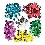 Baker Ross Lentejuelas en forma de estrella para que los niños puedan crear, decorar y personalizar manualidades - Juego de manualidades navideñas creativas (tarro individual).